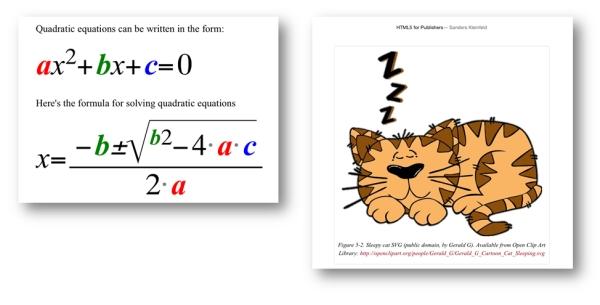 Darstellung von MathML/SVG und Gestaltung mit CSS in Play Books