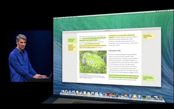 Bildschirmdarstellung von iBooks unter Mac OS X Maverick