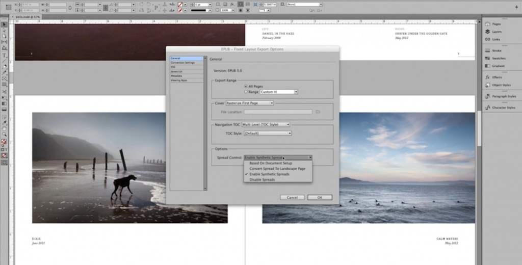 indesign fixed layout